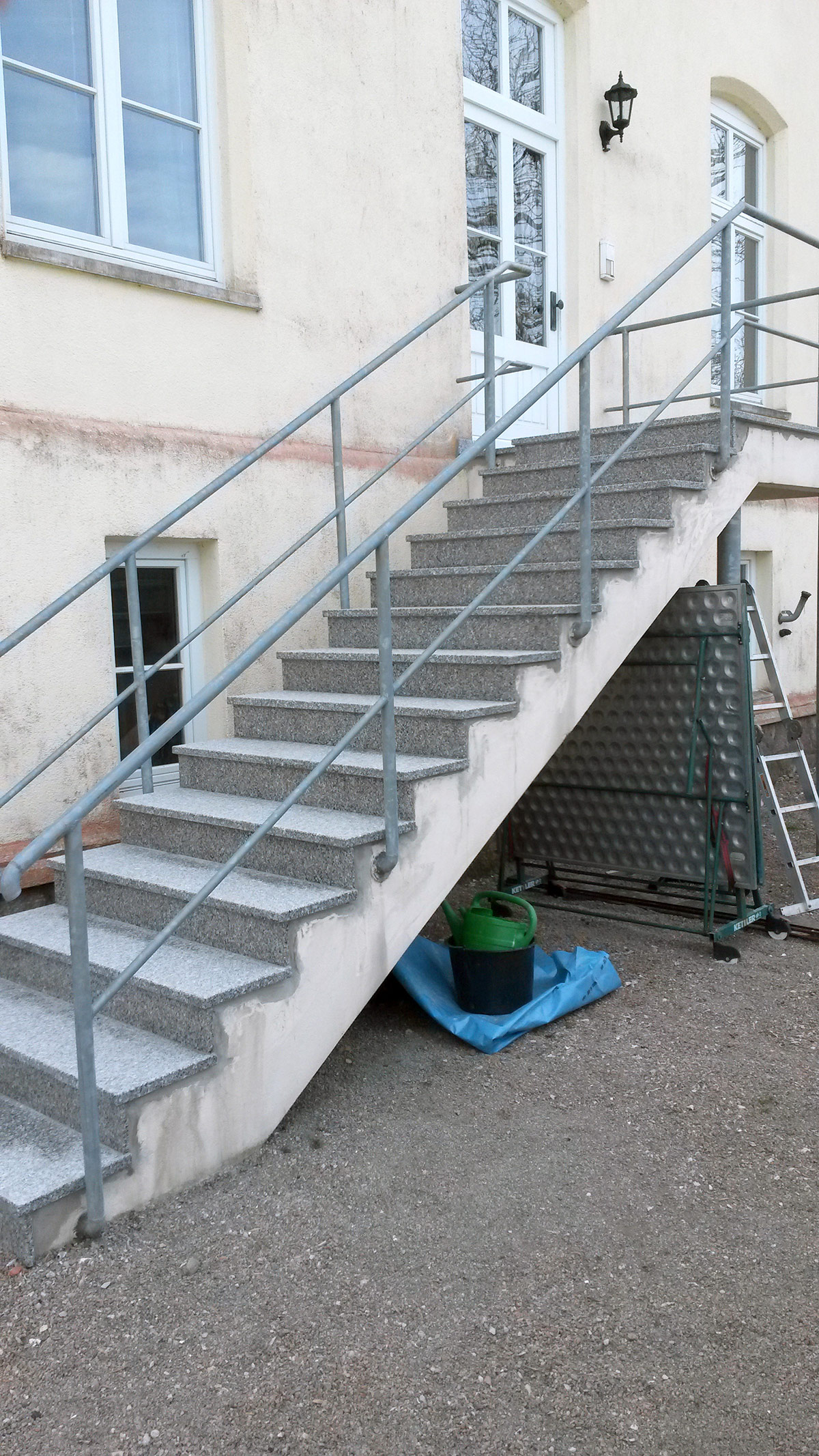 Erneuerung von Außentreppe
